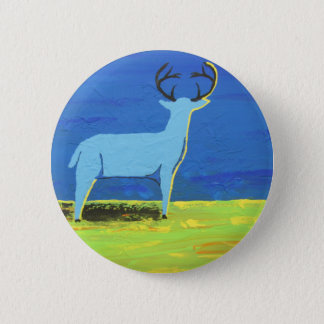 Badge Rond 5 Cm Mâle bleu