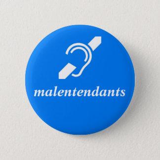 Badge Rond 5 Cm malentendants - Français, sourds