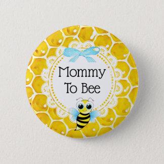 Badge Rond 5 Cm Maman au bouton de baby shower de nid d'abeilles