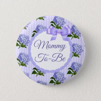Badge Rond 5 Cm Maman florale de lavande lilas pourpre à être