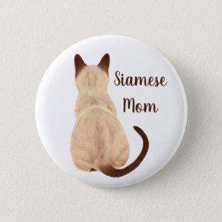 Badge Rond 5 Cm Maman Kitty de chat siamois de Sasha semblant la
