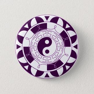 Badge Rond 5 Cm Mandala de Yin Yang