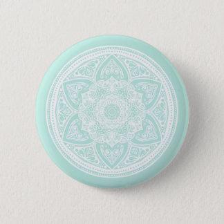 Badge Rond 5 Cm Mandala en verre de mer