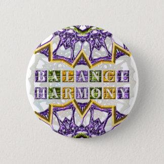 Badge Rond 5 Cm Mandala, harmonie, gemme de ressort compensateur
