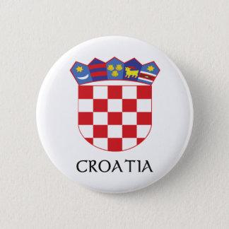 Badge Rond 5 Cm Manteau de la Croatie des bras