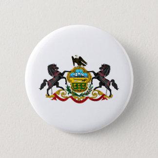 Badge Rond 5 Cm Manteau de la Pennsylvanie des bras