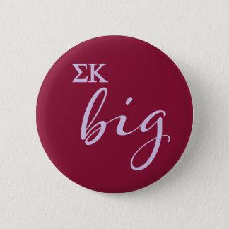 Badge Rond 5 Cm Manuscrit de Kappa de sigma grand