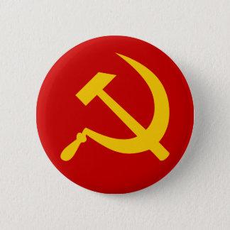Badge Rond 5 Cm Marteau et faucille russes communistes de l'URSS