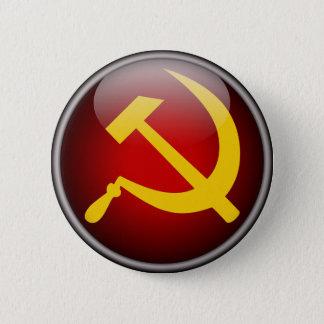 Badge Rond 5 Cm Marteau et faucille russes soviétiques