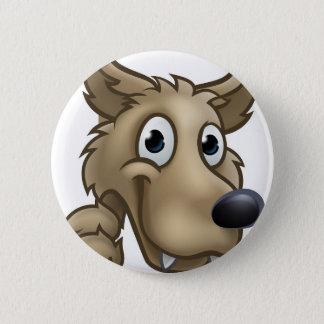 Badge Rond 5 Cm Mascotte de personnage de dessin animé de loup