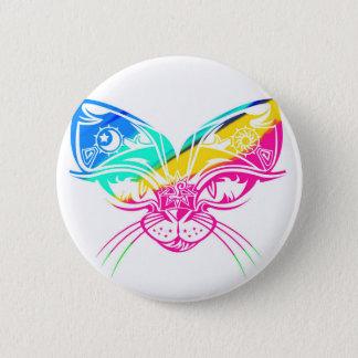 Badge Rond 5 Cm Masque de chat