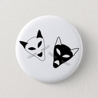 Badge Rond 5 Cm Masques de chat de drame