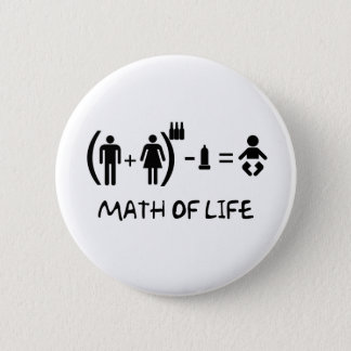BADGE ROND 5 CM MATH OF LIFE