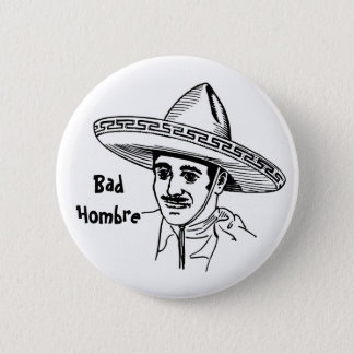 Badge Rond 5 Cm Mauvais bouton de Hombre
