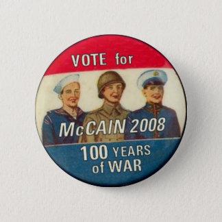 Badge Rond 5 Cm McCain 100 ans de bouton de guerre