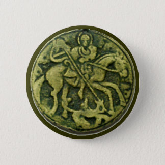 BADGE ROND 5 CM MÉDAILLON DE ST GEORGE ET DE DRAGON