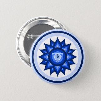 Badge Rond 5 Cm Méditation spirituelle de yoga de Chakra de gorge