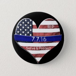 Badge Rond 5 Cm Mémorial de police de Dallas