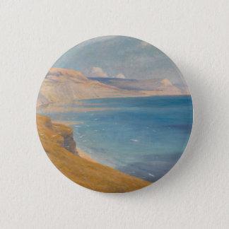 Badge Rond 5 Cm Mer et soleil