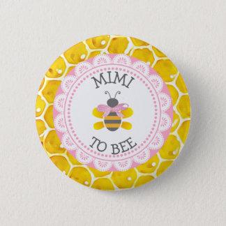 Badge Rond 5 Cm Mimi au bouton de baby shower d'abeille