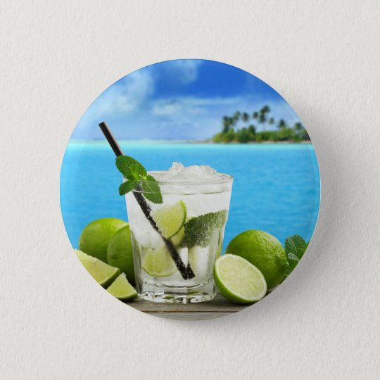 Badge Rond 5 Cm Miscellaneous - Mojito Cocktail One Pattern