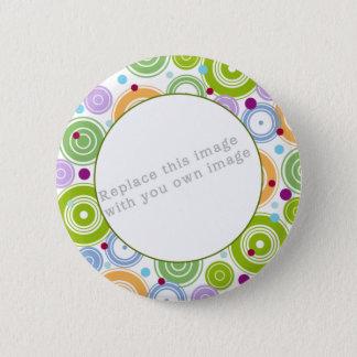 Badge Rond 5 Cm Modèle - rétro conception colorée
