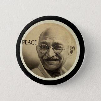 Badge Rond 5 Cm Mohandas Gandhi