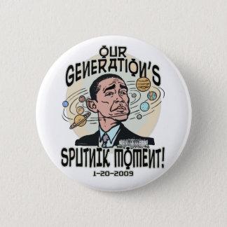 Badge Rond 5 Cm Moment drôle d'Obama Spoutnik