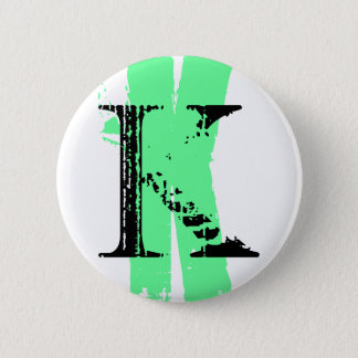 Badge Rond 5 Cm Monogramme de K