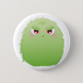 Badge Rond 5 Cm Monstre velu de mauvaise attitude