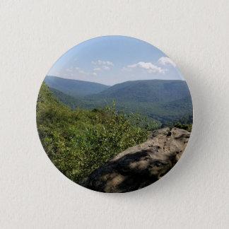 Badge Rond 5 Cm Montagnes Pennsylvanie de laurier