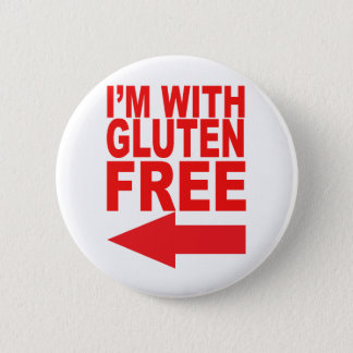 Badge Rond 5 Cm Montrez votre soutien de votre aimé sans gluten !