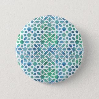 Badge Rond 5 Cm Mosaïque espagnole d'aquarelle