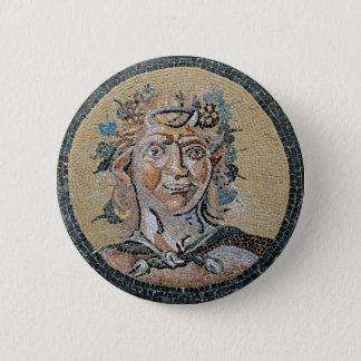 Badge Rond 5 Cm Mosaïque romaine antique de satyre