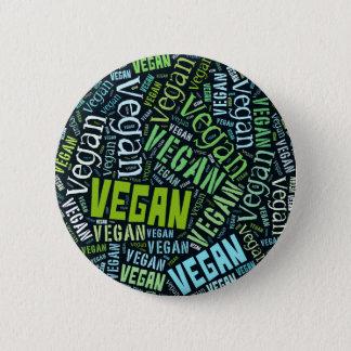 """Badge Rond 5 Cm Mosaïque """"végétalienne"""" de Mot-Nuage"""