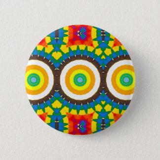 Badge Rond 5 Cm Motif coloré de point de kaléidoscope