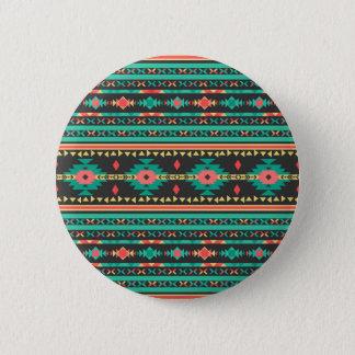 Badge Rond 5 Cm Motif géométrique de Navajo ethnique tribal frais