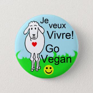 Badge Rond 5 Cm Mouton