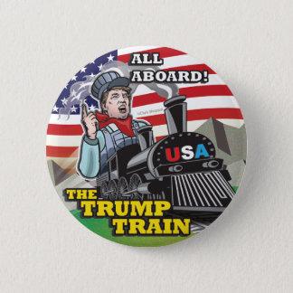 Badge Rond 5 Cm Mouvement américain politique Etats-Unis de TRAIN