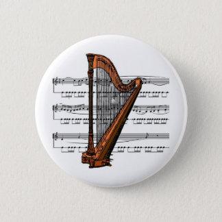 Badge Rond 5 Cm Musical 02 B d'harpe