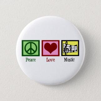 Badge Rond 5 Cm Musique d'amour de paix