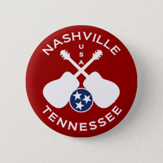 Badge Rond 5 Cm Nashville, Tennessee Etats-Unis
