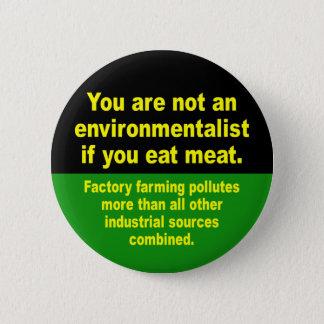 Badge Rond 5 Cm ne mangez pas de la viande