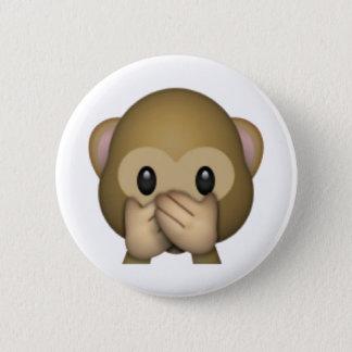 Badge Rond 5 Cm Ne parlez aucun singe mauvais - Emoji