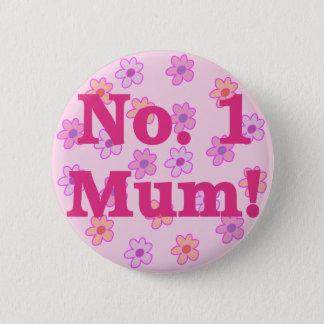 Badge Rond 5 Cm No. 1 insigne de bouton de conception de fleur de
