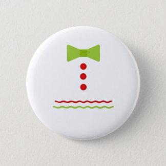 Badge Rond 5 Cm Noël de bonhomme en pain d'épice