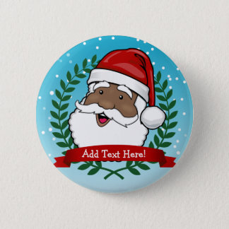Badge Rond 5 Cm Noël ethnique gai du père noël