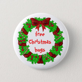 Badge Rond 5 Cm Noël libre étreint le bouton