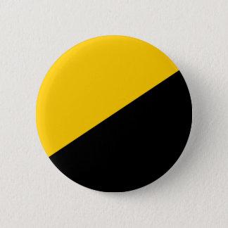 Badge Rond 5 Cm Noir d'Anarcho et jaune capitalistes