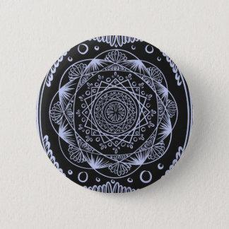 Badge Rond 5 Cm Noircissez, en réveillant le motif de zen,